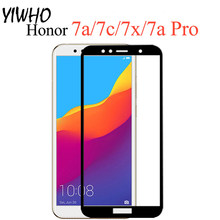 Glass For Huawei Honor 7A 7 A Pro Y6 Prime Pretective Tempered Glass on Honor 7A A7 Not Full Cover Screen Protector Safety Film(China)