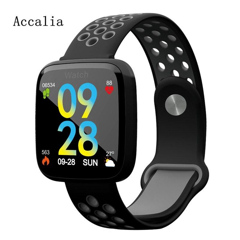 ACCALIA F15 Smart bracelet fitness tracker Message Waterproof OLED Touch Screen