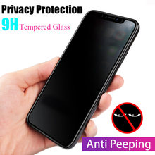 3D la cobertura completa de privacidad de Anti Glare de cristal para Apple iphone X XS X XR XS MAX protección Protector de pantalla para iphone 8 7 6 S 6 Plus(China)