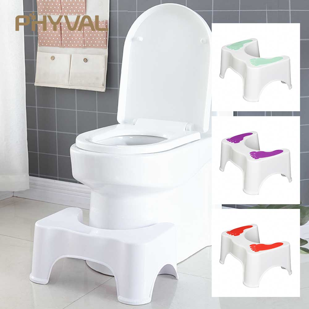 Toilet Stool Footstool Step Stool Toilet Bowl Step Stool Bathroom Stool Squatting Children Pregnant Women Footstool 47*33*21CM