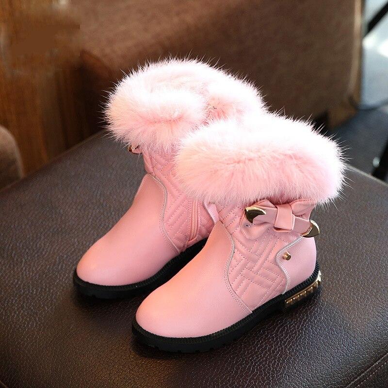 kids boots girls boots comfort leather girls winter boots kids warm rabbit hair princess girls boots kids shoes girls shoes yallo kids