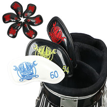 NEW Skull Golf Wedges Cover Headcovers 6pcs/set golf clubs protect covers free shipping new mens golf head kenmochi 103 golf wedges head 52 56 60 wedges clubs head no shaft free shipping