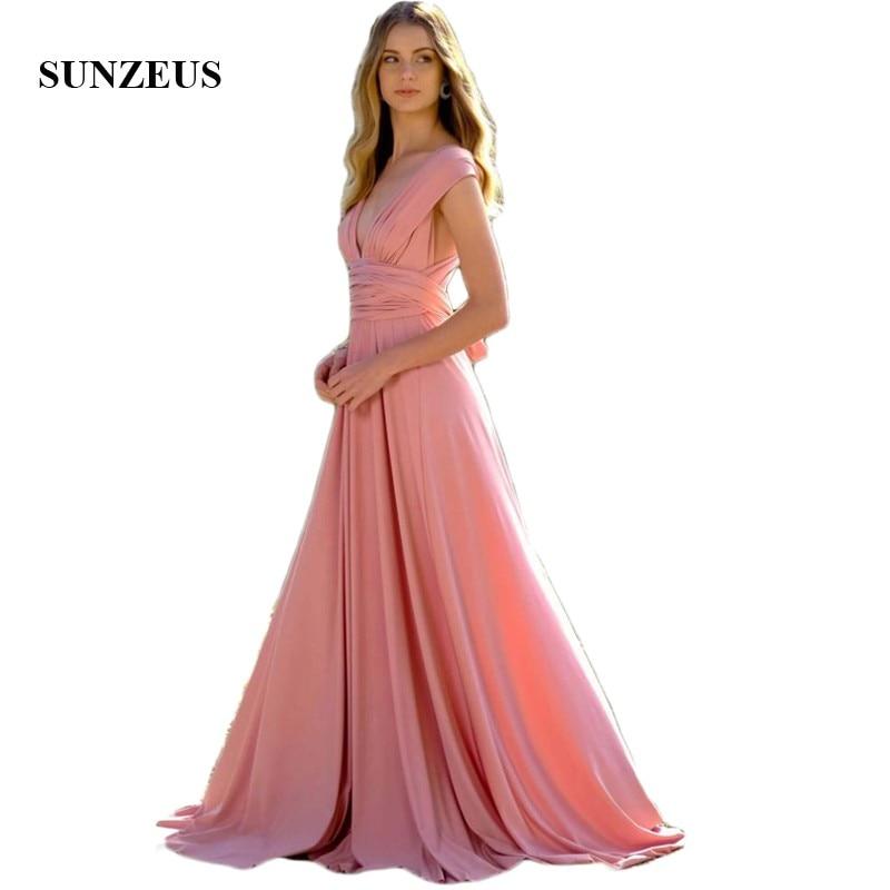 V Neck A-Line   Bridesmaid     Dresses   Tank Elegant Simple Candy Color Spandex Wedding Party   Dress   for Women vestido madrinha SBD167