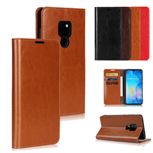 LUCKBUY For Huawei Mate 20 Classic Genuine Leather Wallet Stand Flip Credit Card Pockets for Mate20 Pro Lite case
