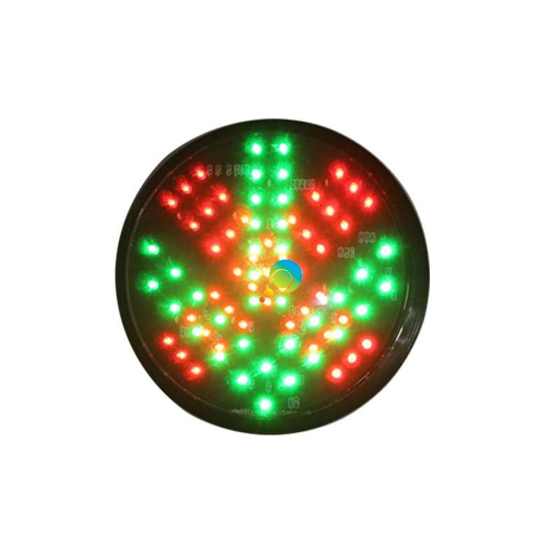 DC12V Bi Color 200mm  Red Cross Green Arrow LED Traffic Light Signal Lamp