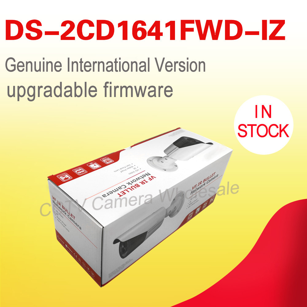 Free shipping English version DS-2CD1641FWD-IZ replace DS-2CD2645F-IZS 4MP network bullet ip cctv camera POE motoried vf lens