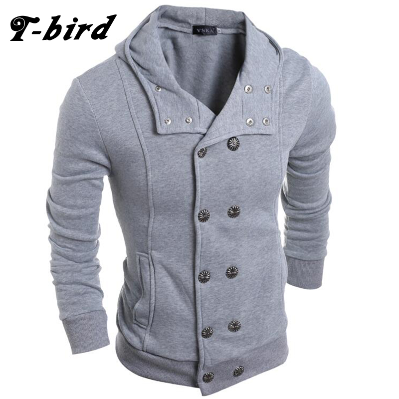 T bird Hoodie Men Cardigan Button Hoodie Hip Hop Male Sweatshirt 2017 Fashion Men Autumn ...