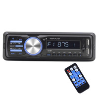 1Din Car Audio 1010RDS MP3 Player Car Audio Bluetooth Stereo RDS/FM/AUX/ISO Input Subwoof Sound Playback Auto Car Radio