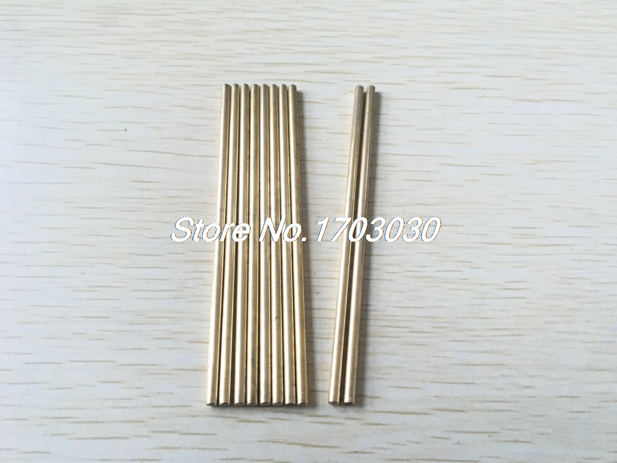 DIY RC Toy 3mm Dia 90mm Long Brass Solid Round Rod Bar Shaft 10Pcs rc helicopter hardware 200mm x 3mm brass axle round rod circular bar 10pcs