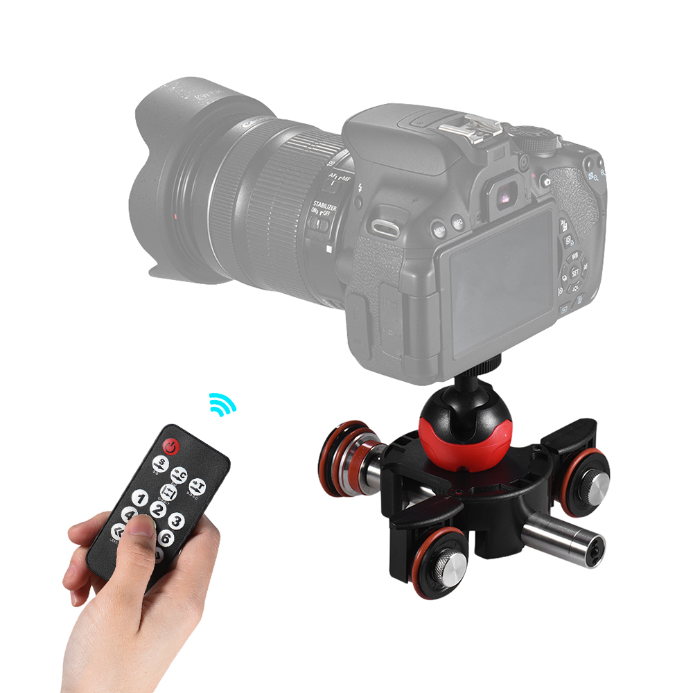 Andoer L8X Mini Track Slider Wireless Remote Control Motorized Camera Slide Video For Canon Nikon Sony DSLR Camera Smartphone