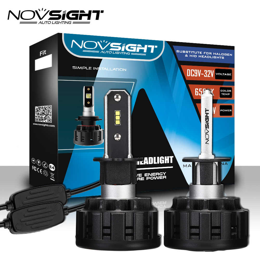 Novsight Super Bright H4 h7 Car Headlights Bulb led H11 H8 9005 HB3 9006 HB4 H3 Led Auto 80W 16000LM Automobiles Headlamp 6500K