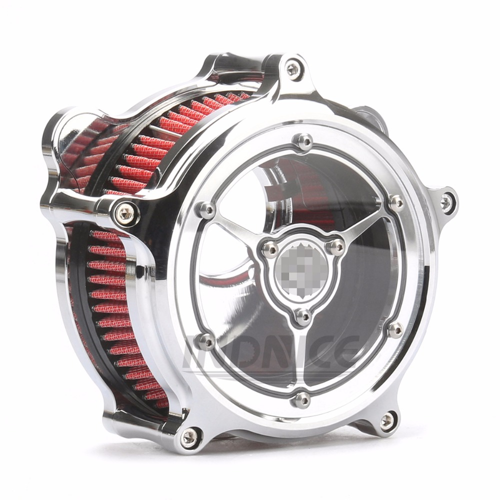 Moto Pour Harley Touring Chromé Air Intake Cleaner Filtre Glide Dyna Breakout 2001-2007
