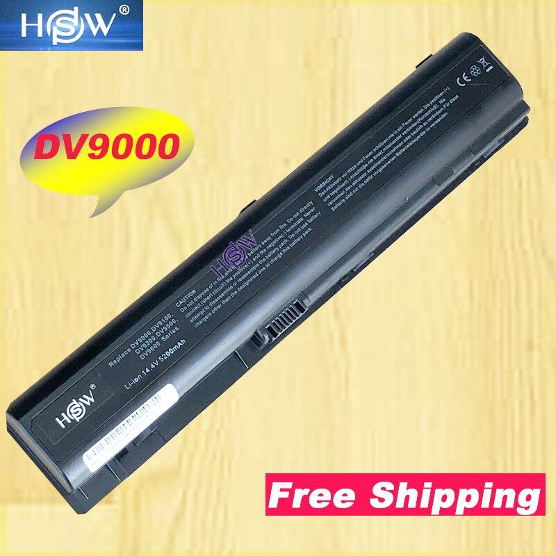 A HSW New bateria do portátil Para HP Pavilion DV9000 DV9100 DV9200 DV9300 DV9400 DV9500 DV9600 DV9700 DV9800 DV9900 frete grátis