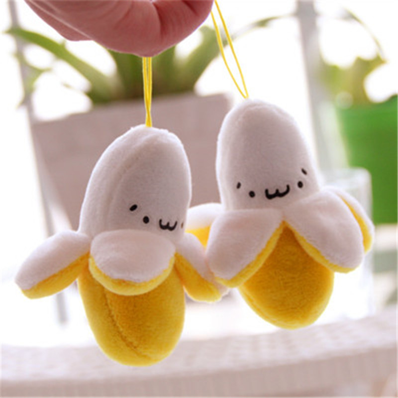 Mini Yellow Banana Small Pendant Stuffed Plush Plants Toy Banana Fruit Series Soft Popular Toy Gifts For Children