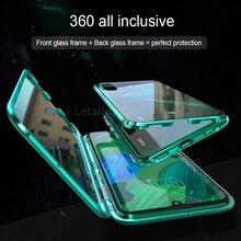 Full Body coverage Shockproof case For Huawei Nova 5 Cover Metal Bumber Pro Cases Nova5Font Glass&Back Glass Case