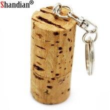 SHANDIAN USB flash drive wood bottle plug pendrive 8GB 16GB 32GB memory stick