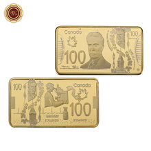 WR Canada Gold Bar Collectible 999.9 Gold Plated Canada 100 Pure Gold Banknote Metal Bars Metal Craffts Worth Collection(China)