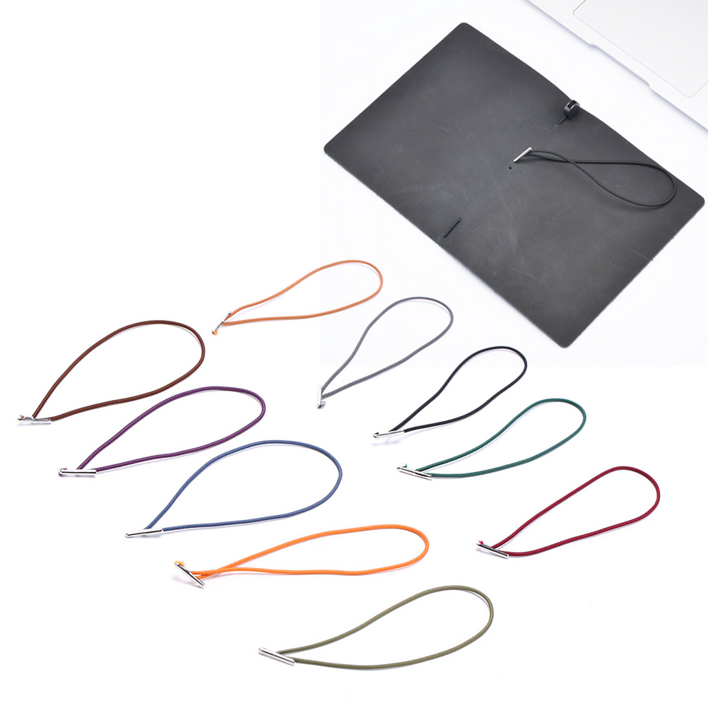 Elastic Repair Rubber Band Leather Notebook Accessory Elastic String Bungee Cord, Black, Brown, Blue, Camel, Olive Green, Red
