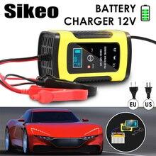 Полная Автоматическая автомобильная батарея зарядное устройство 110 В до 220 В до 12 В 6A ЖК-дисплей Smart Fast для авто мотоцикл свинцово-кислотные батареи зарядки
