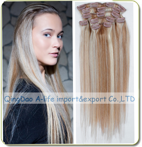 Full Head Clip In Hair Extensions 15 26inch Good Quality 1261318