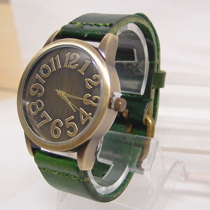 Hot Sales Vintage Äkta Cow Leather Watch Män Kvinnor Punk Military - Herrklockor - Foto 6