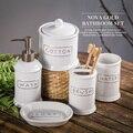 Banheiro cerâmica Conjunto de Cinco Peças De Banheiro Item Moda Moderna Escova De Dentes Titular Acessórios de casa de Banho