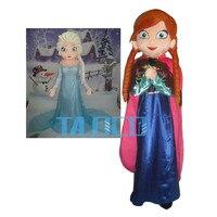 Elsa & Anna Princess Mascot Costume Party Fancy Dress Free Shipping Adult