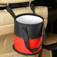 PVC Leather Car Garbage Can, Hanging Rubbish Storage Bags