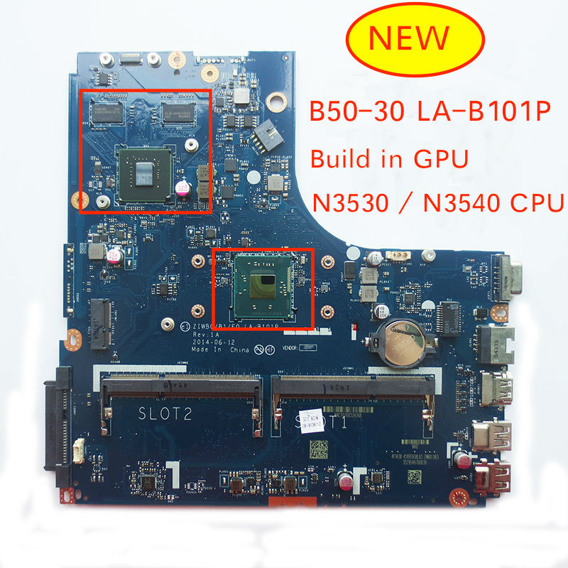 Free Shipping NEW Tested Mainboard For Lenovo B50-30 LA-B101P Notebook Motherboard With N3530 N3540 Cpu