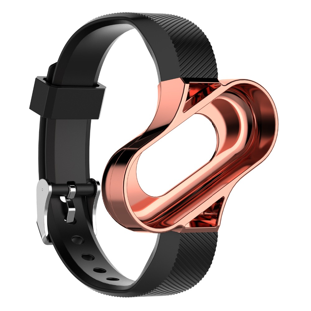 Replacement Soft Silicone Strap For Xiaomi Mi Band 3 2 1 Bands Strap Wristband WatchBand With Metal Frame 12.5