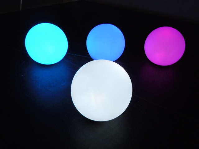 25cm Outdoor LED Light Up Balls,illuminated Luminous Led Ball, Bar Furniture  Lighting Led