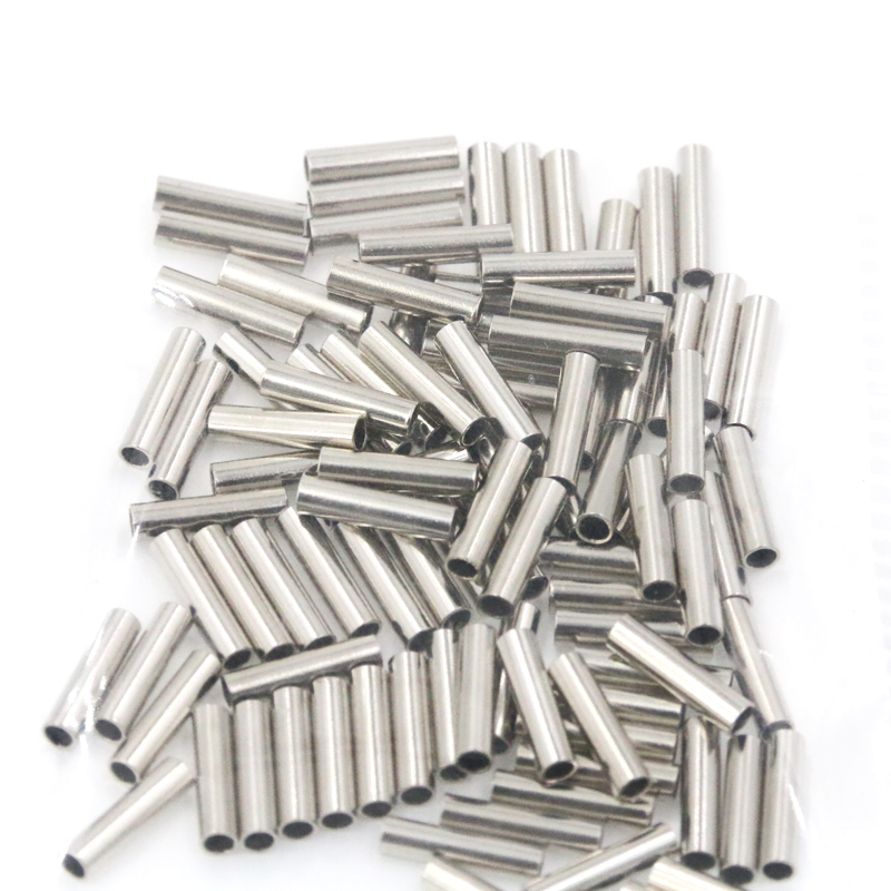 100 teile beutel aluminium angelschnur crimphülse kupferrohr 1,0mm-2,0mm ZP