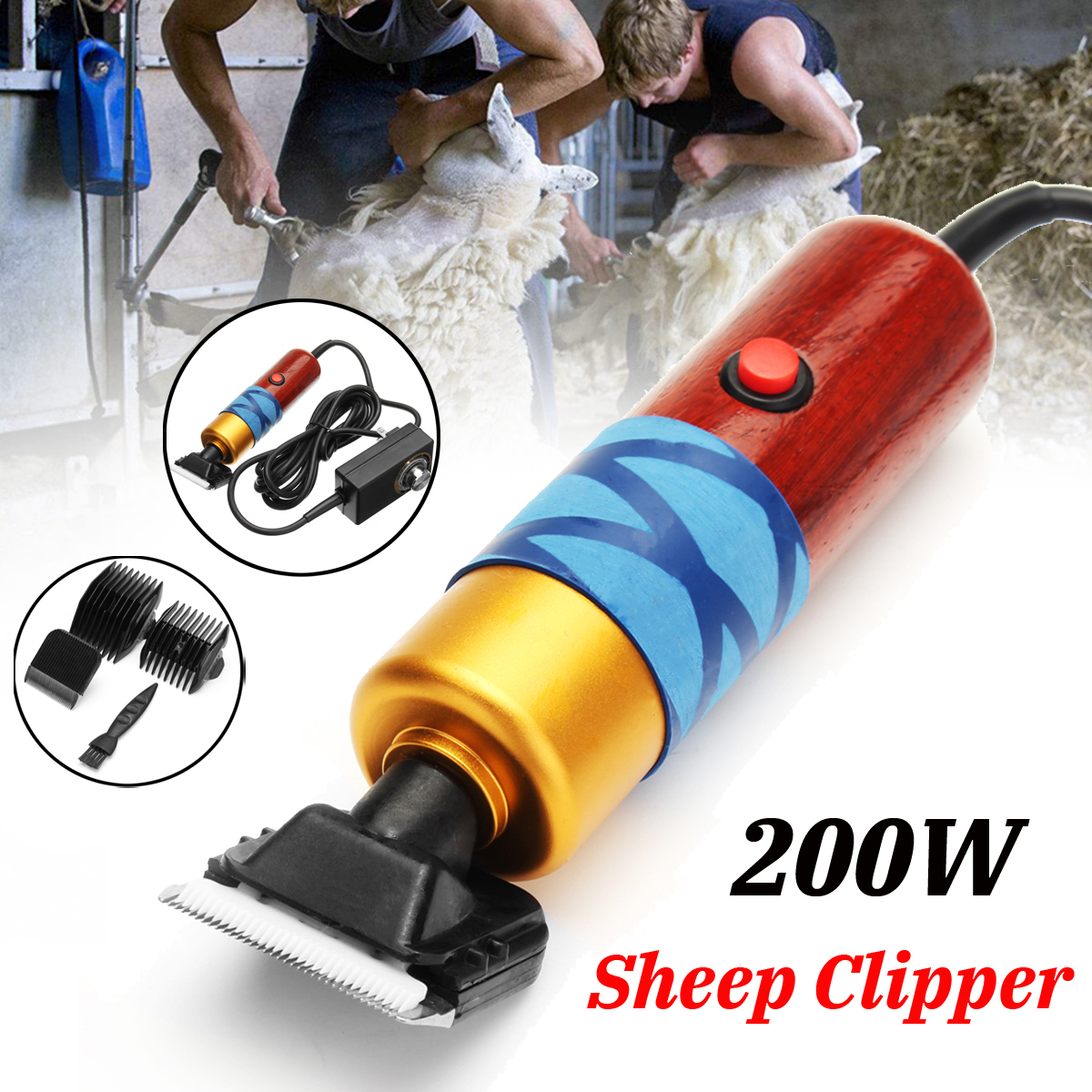 200W Electric Sheep Clipper Professional Dog Grooming Kit For Rabbit Pet Dog Grooming Tools 100-240V200W Electric Sheep Clipper Professional Dog Grooming Kit For Rabbit Pet Dog Grooming Tools 100-240V