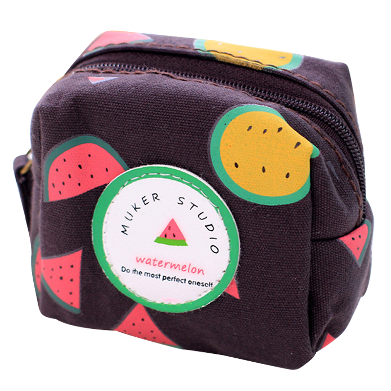 Fresh Style Creative Cubic Fruit Canvas Coin Purse Key Wallet Storage Organizer Bag Novelty Gift Always Buy Good Luggage & Bags