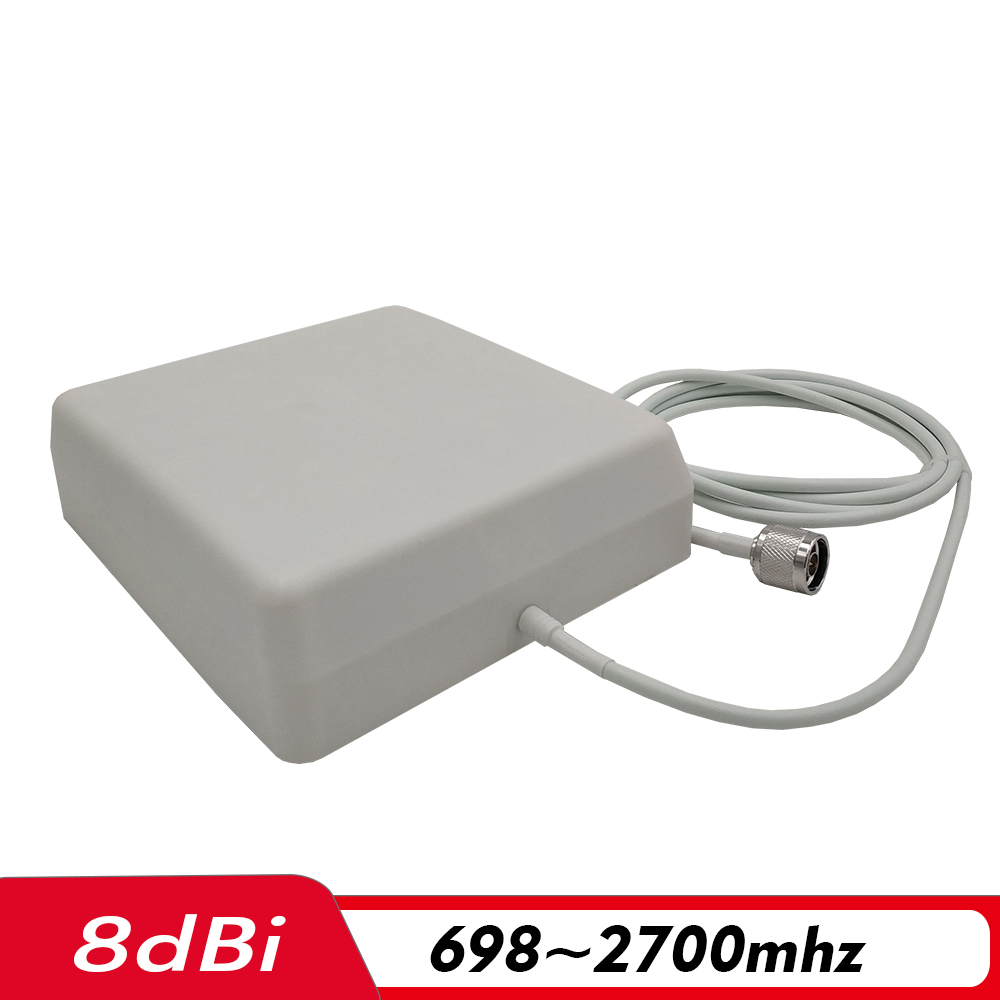 698~2700MHz 8dBi Indoor Panel Antenna N-male 2 Meters Internal Antenna For 2G 3G 4G Signal Amplifier Cell Phone Signal Repeater