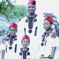 Унисекс детская одежда новый дизайн африканский мода мягкий материал вышивка топ с брюки два шт один комплект