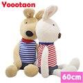 60 см Kawaii ле сукре кролик детские игрушки одежда может быть снять Высокое Качество кролик играть дома Чучела куклы