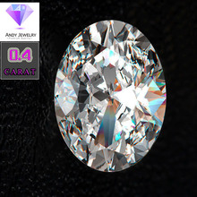 4*6mm Oval Cut 0.4 carat White Moissanite Stone Loose Diamond  for Ring making
