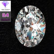 4*6mm Oval Cut 0.4 carat White Moissanite Stone Loose Moissanite Diamond for Ring making