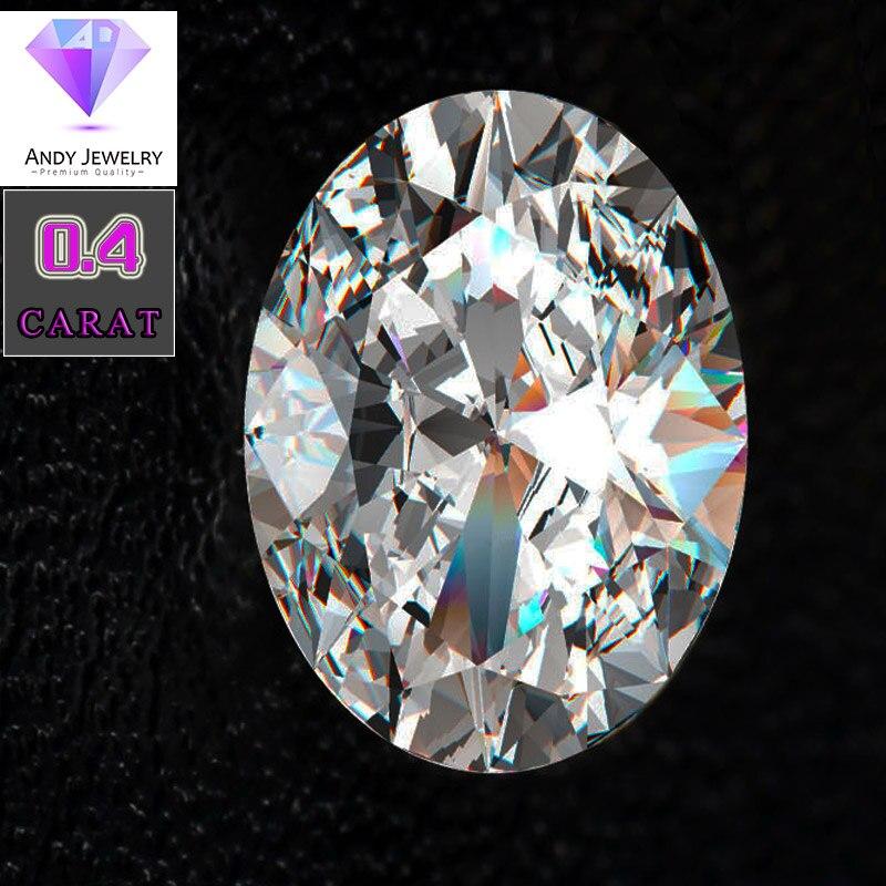 4*6mm Ovale Cut 0.4 carat Blanc Moissanite Pierre Moissanite lâche Diamant pour faire Sonner