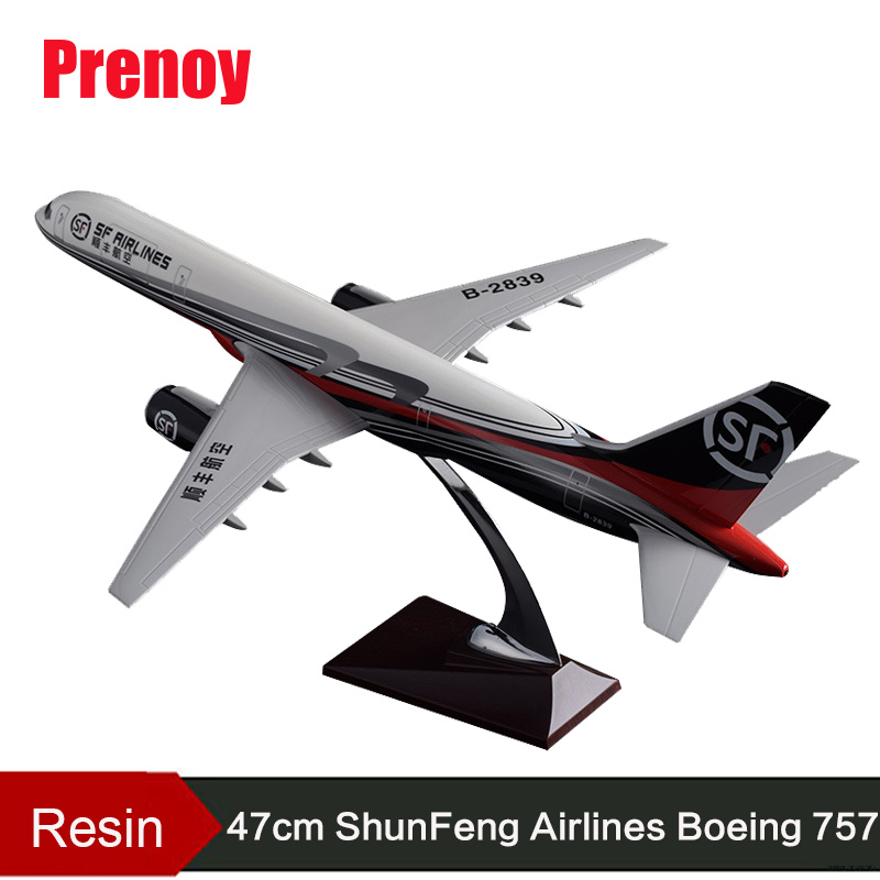 47cm ShunFeng White Boeing 757 Resin SF Express Airlines Airplane Model B757 Cargo Airbus Logistics Airways Aircraft Plane Model new phoenix 11207 b777 300er pk gii 1 400 skyteam aviation indonesia commercial jetliners plane model hobby