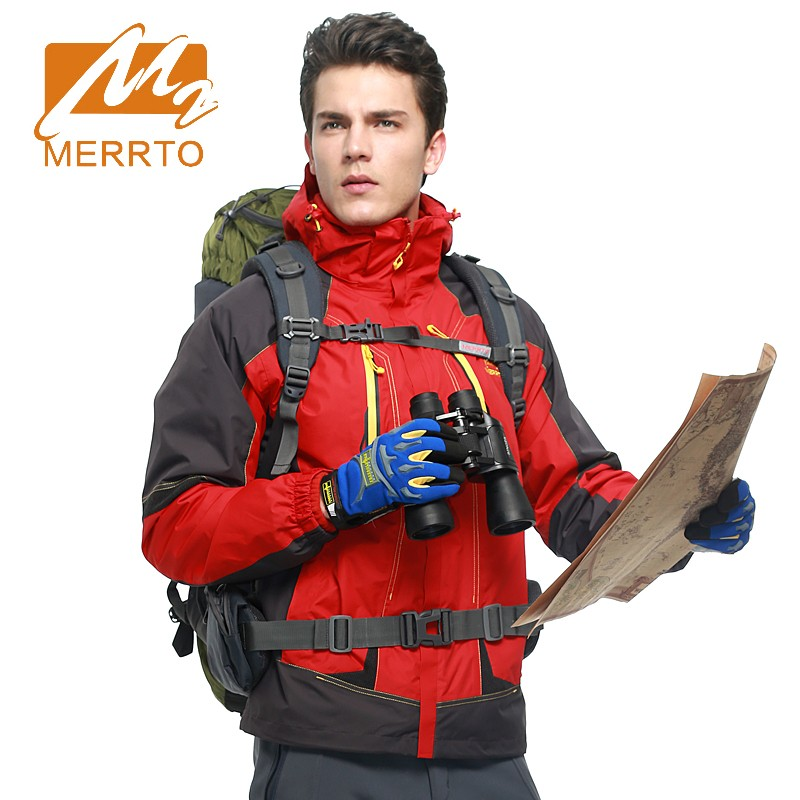 2017 Merrto Winter Mens Hiking Jackets Warmth Outdoor Fleece Jackets Waterproof Windproof Camping Jackets For Men yin qi shi man winter outdoor shoes hiking camping trip high top hiking boots cow leather durable female plush warm outdoor boot