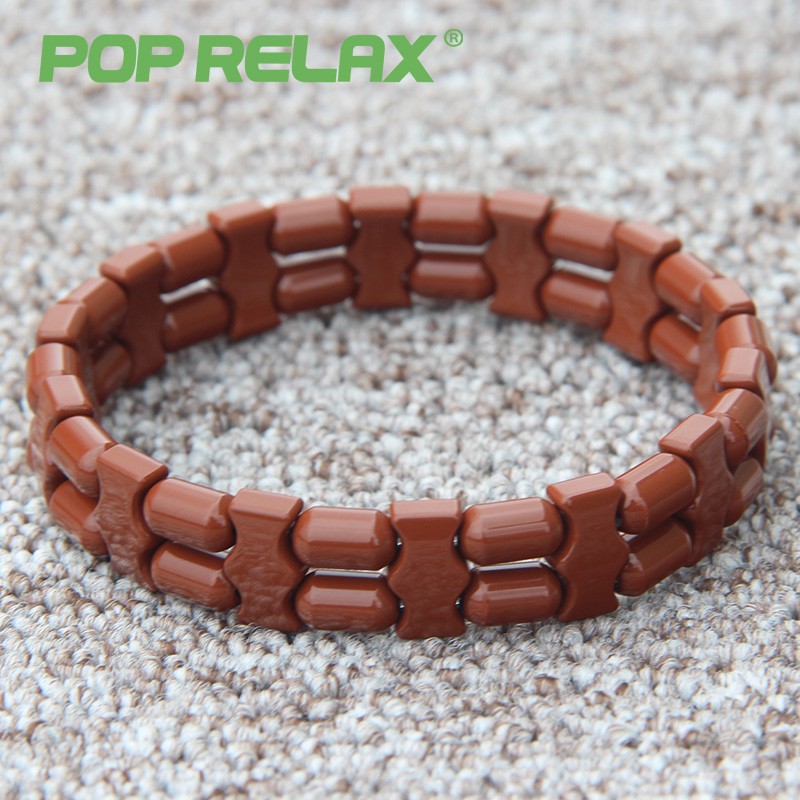 Фото POP RELAX new Korea tourmaline germanium bracelet ion balance physiotherapy health care fashion stone bracelets for men women