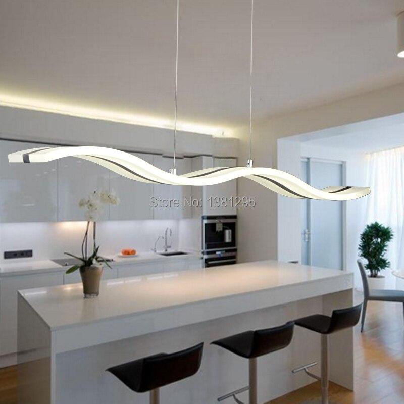 Moderno colgante LED luz De la lámpara De Techo De comedor Bar ...