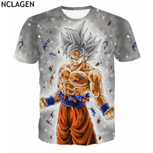Dragon Ball Super Complete Ultra Instinct Goku White Super Saiyan God Son Goku Printed T-Shirt NCLAGEN