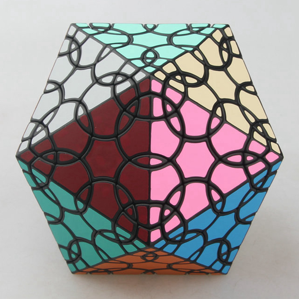 VerryPuzzle Clover Icosahedron D1 Magic Cube Speed Twisty Puzzle Cubes Game Educational Toys For Kids Children verrypuzzle clover dodecahedron magic cube speed twisty puzzle megaminx cubes game educational toys for kids children