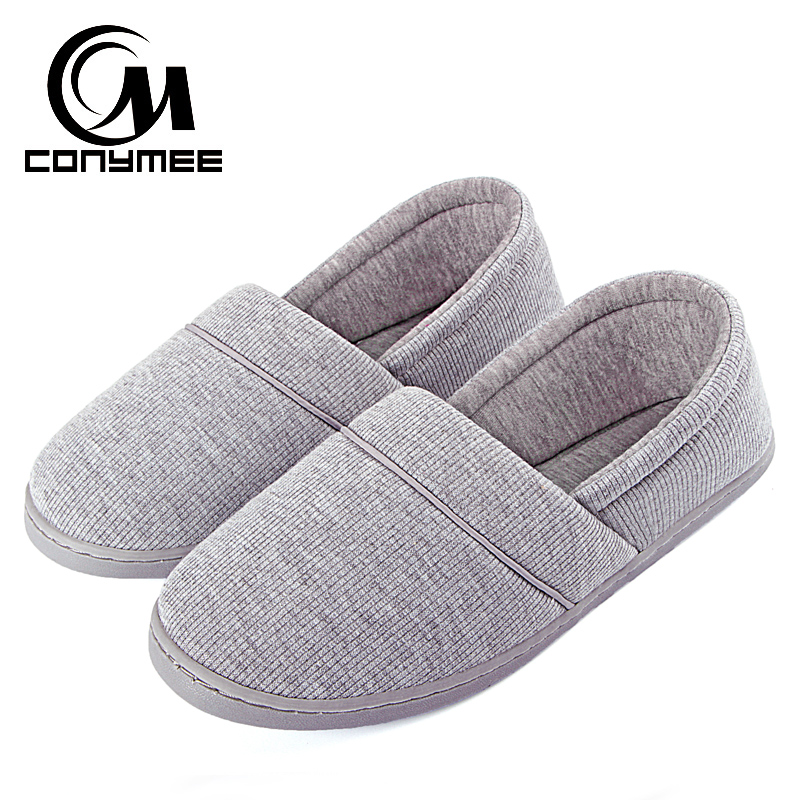 CONYMEE Winter 2018 Home Slippers Flat Shoes Women Indoor Warm Casual Sneakers Pantufas Soft Floor Ladies Cotton Pink Slipper цена