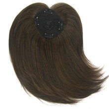 Soowee Long Brown Synthetic Hair Toupees Hairpieces Straight Hair Bang Fringe Top Closures for Men and Women(China)