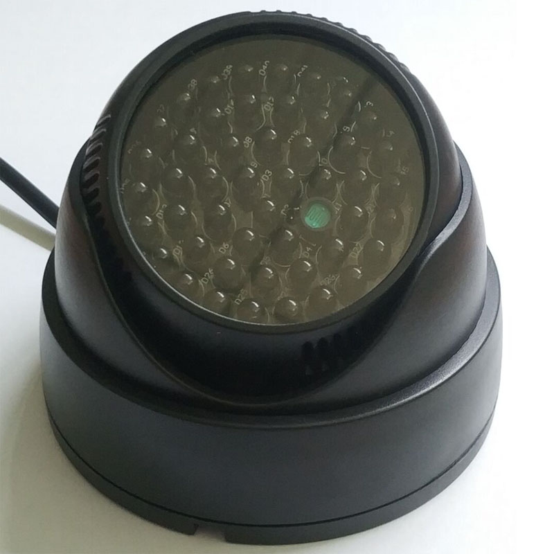 940nm Invisible Infrared Light 48pcs Black IR LED Night Vision Illuminators  IR Spotlight  CCTV Camera Additional Lamp