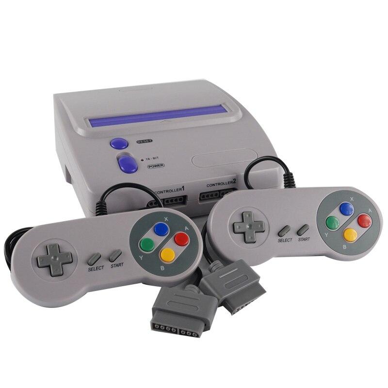 ТВ-консоль для видеоигр Snes, 16-битные игры, два Проводные джойстики S-Video & NTSC, RCA-выход